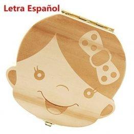 Caja Madera Para Dientes De Leche Niño / Niña Ratoncito Perez